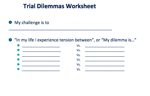 Trial Dilemmas Worksheet